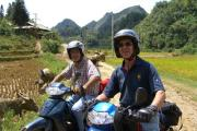 Vietnam Travel, group motorcycle
